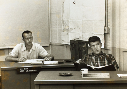 Alan Shepard & Wally Schirra.