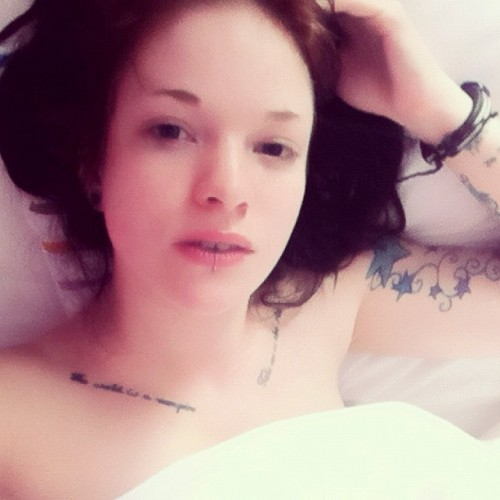 Waking up sucks. #bed #morning #myself #me #gpoy #selfportrait #suicidegirls #sallisssuicide  (Taken with Instagram)