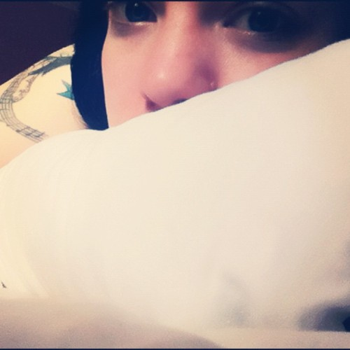 Pillow talk. #sallisssuicide #suicidegirls #selfportrait #gpoy #me #myself #morning #bed  (Taken with Instagram)