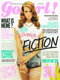 "missdelrey:  Lana del rey on the cover of GoGirl magazine!  ""Lana del rey, Queen of controverse"""