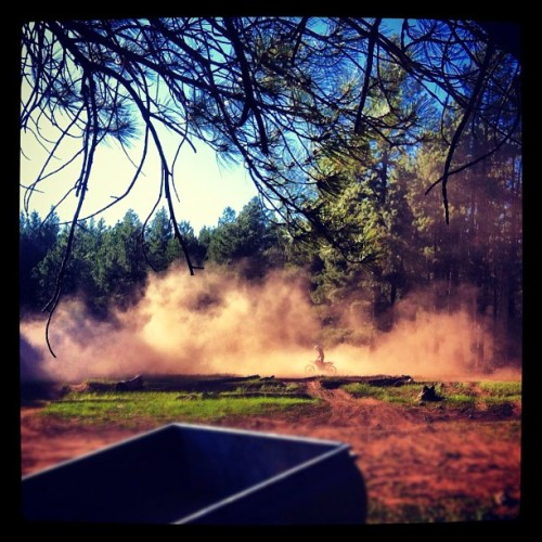 #dirtbike #dirt #dust #offroad #forrest #green #blue #flagstaff #sky #trail  (Taken with Instagram)