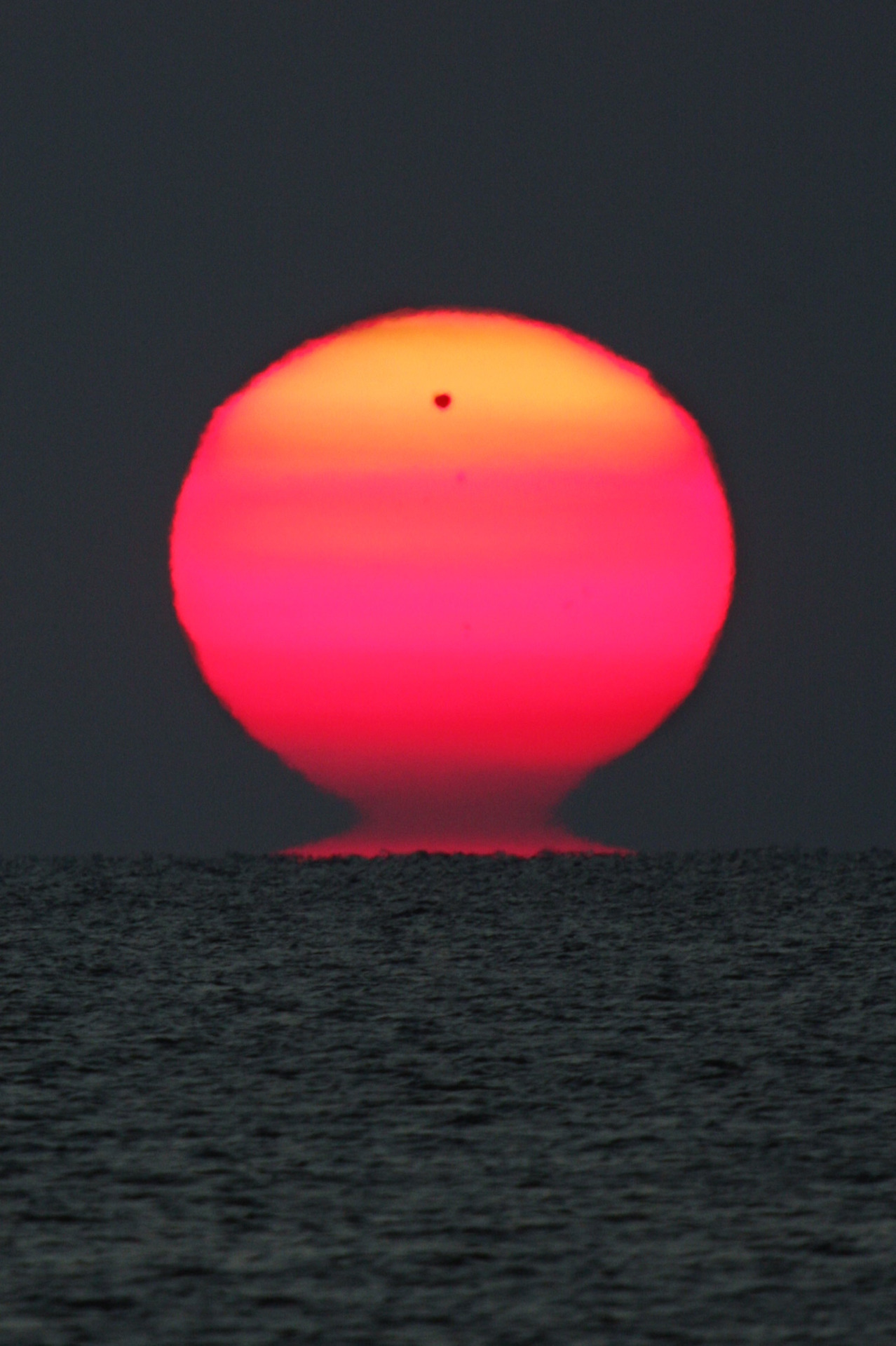 vaacuum:  Venus rises alongside the Sun on June 6, 2012, photographed by Emil Ivanov.