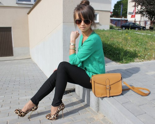 lookbookdotnu:  Green bottle* (by Alexandra M)