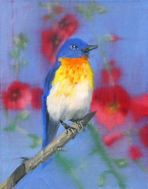 bird painting by Ann Craven