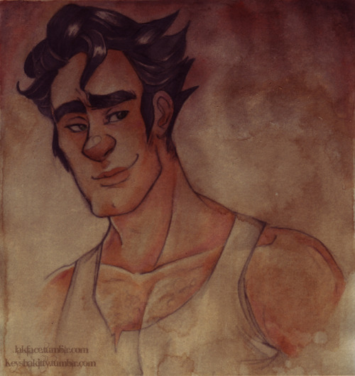 keyshakitty:  A while ago Jak sent me this AMAZING older Bolin picture which I just couldn't resist colouring.  Though I feel like I've done next to nothing on the original sketch to even warrant calling this a collaboration - it's all her beautiful pencil work at play here~! <3PS - His eyes are green, I've just muted it back so as to not overpower the image.Media: Coffee wash, Copic Sketch markers, Faber Castell Watercolours.  This is so amazing! you took my dinky little sketch and turned it into something finished and beautiful! The coffee staining is especially beautiful! <3 I also want to say my version of older Bolin is inspired by toerning's version of Bolin. It's sheer perfection.