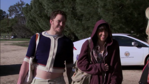 "Andy: ""HAHAhaaa, sweater swap! You were right, she noticed.""  Parks and Recreation: S2E19: Summer Catalog"