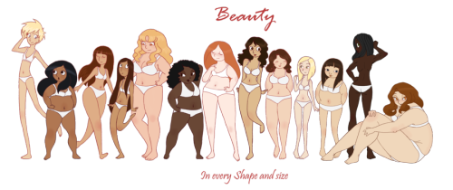 (via The many kinds of girl - Now in three extra sizes by ~vonnie-seiyuki-chan on deviantART)