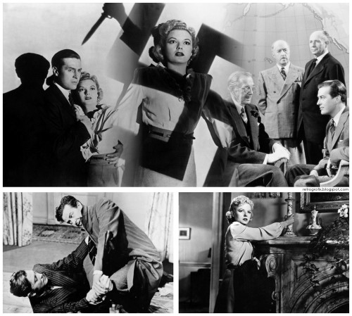 Ministry of Fear 1944 - Director: Fritz Lang Ray Milland, Marjorie Reynolds, Carl Esmond, Dan Duryea  Ministry of Fear 1944 […more Images] England, 1940. Leaving an asylum where he has spent the last two years, Stephen Neale decides to return  to London, even though the capital is under attack from German bombers.  On the way, he stops at a garden fete where he wins a cake by correctly guessing its weight.  In the train to London, Neale strikes up a conversation with a blind man, who suddenly assaults him and runs off with the cake.  Neale gives chase, but the blind man falls victim to a German shell.  Convinced that he has become caught up in an elaborate plot, Neale hires a private detective and conducts his own investigation.  This leads him to the organisers of the charity which arranged the fete where he acquired the mysterious cake – Austrian refugees Willi and Carla Hilfe.  At a séance attended by members of the charity, a man is killed and Neale is the obvious culprit.  Carla makes discoveries of her own and it soon becomes clear that there is more at stake than Neale's life.  The security of Great Britain is under threat, and from a very dangerous enemy…