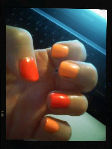 Models Own Beach Party and Primark Neon Orange