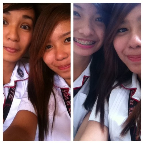 kperryislove:  Hello REAL friends! :-) @audryalcayaga and kimmy! :-) (Taken with Instagram at Colegio San Juan de Letran Manila)