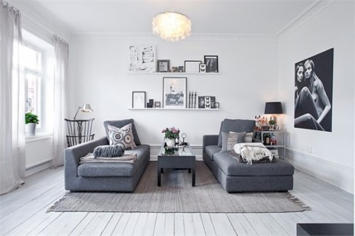 myidealhome:  gray living (via Bungalow5)
