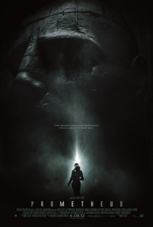 "Prometheus (2012) Director: Ridley Scott Writers: Jon Spaihts and Damon Lindelof I couldn't tell you how excited I was for this movie but also really nervous.  The trailers were great but looking at Scott's resume he isn't the most reliable when it comes to quality.  Also Damon Lindelof was said to have a heavy influence on the script and given how bad he whiffed the ending of LOST I was a bit nervous.  Prequels are also a very tricky thing.  The Space Jockey and the origins of what is found in the original Alien never really mattered.  To attempt to 30 years later go back and try and explain what all that was, if done poorly, couldn't help but stick in the back of my mind when watching Alien next time ""Oh thats what this was"".  Now I understand that when making Alien that Prometheus wasn't in the back of their mind.  When they created the whole Space Jockey thing all those decades ago they didn't necessarily have any back story to it, they just thought it looked cool.   Then reviews started to come in about a week ago and I definitely lowered my expectations.  I really tried to stay away from reading to much and I mostly was successful.  I have to say though in the end, while I definitely have issues with it, I did enjoy it more than I thought I would going on.  It clearly does take place in the Alien universe but it isn't really a prequel in the sense that everything that happens in this movie sets up the movie Alien.  By the end of this movie it takes off in its own direction.  Hopefully the movie does well enough that it warrants a sequel but I would be interested to see where this story goes given the ending.   I will say what probably everyone will say walking out that without a doubt the two strongest things about the movie are Michael Fassbender's performance as the android David.  The character of David doesn't really make much sense in terms of his motivations, one of the big problems I have with the film, but Fassbender makes the most of what he is given and turns in the most entertaining performance of the film. The second is the visuals.  I know this was filmed in 3D and hyped to be really great 3D but even the really ""great 3D movies"" I have seen have really added nothing to the experience except for another pair of glasses for me to wear and $4 extra out of my pocket so for Prometheus I opted for the 2D showing.  Holy shit though this movie is beautiful.  I really can't imagine seeing a better looking movie this year.  Regardless of what you think of the movie this really can't be denied and if you have even a faint interest in seeing it DO NOT WAIT FOR HOME VIEWING see this thing on the biggest and best fucking screen you can find.  The effects, costumes, production design, etc are all spot on and if this doesn't get a lot of love in the technical categories at the Oscars next year something is really wrong. The movie is flawed no doubt but the movie seems to be reaching with its themes and its scope a lot more than Alien did, which was really just a Halloween type slasher movie but in space, so I give it credit for that.  When I walked out of The Avengers, which I enjoyed, I couldn't help but think just how flat and not very cinematic it really looked.  Prometheus shows this is what a movie could and should look like when you've got hundreds of millions at your disposal. I think that as time goes on and if I see the movie again I will probably just discover more flaws and my opinion of it will go down but for now having just got out of the movie I can say I was never really bored and the movie was great to look at.  Flawed yes but entertaining.  Looking forward to seeing more."