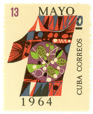 Cuba postage stamp: May 1 by karen horton on Flickr.#Cuba
