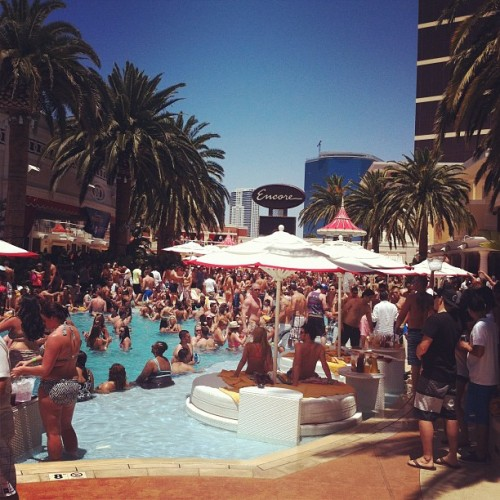 Encore Beach… Let the party begin baby!  (Taken with Instagram)