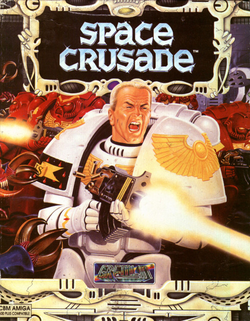 notablegamebox:  Space Crusade on the Amiga. Spreading that old time space-religion to space-aliens in the space-future.