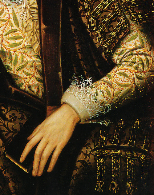 wycherley:  Anonymous, Portrait of Peter Saltonstall (detail) ca. 1610 (x)