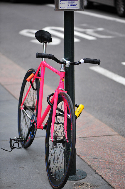 SEEN ON THE STREET: radiation pink Samson by sashae on Flickr.