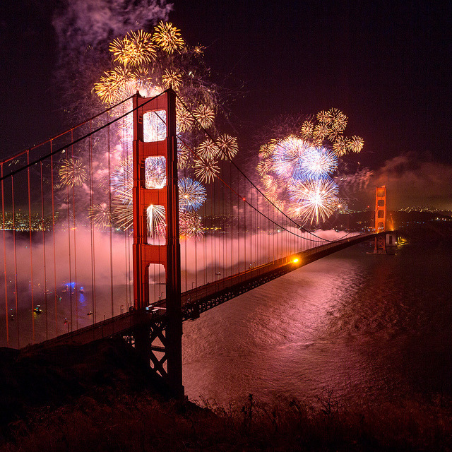 lensheroes:  Golden Gate Bridge 75th Anniversary Fireworks Square by Rob Kroenert on Flickr.