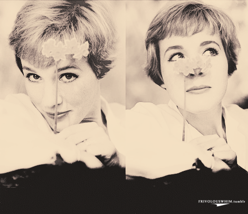 frivolouswhim:  9-10/50 favorite photos of Julie Andrews  Gorgeous, adorable, charming, perfect and multitalented. What else?