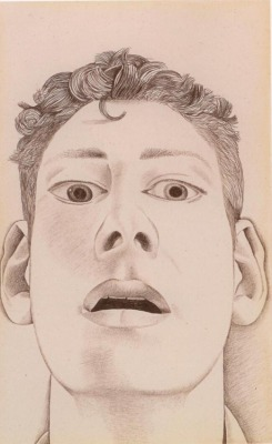 Lucian Freud, Startled Man: Self Portrait, 1948, Pencil on paper, 22.9 x 14.3 cm (9.02 x 5.63 inches).