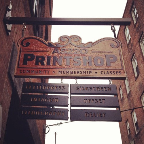 Workshop time. #print #letterpress  (Taken with Instagram at AS220 Mercantile Block)