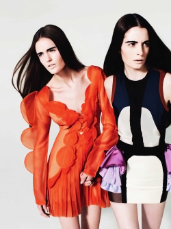 billsforbillie:  Katie Fogarty and Suzie Bird by Josh Olins for V Magazine #58 March/April 2009.