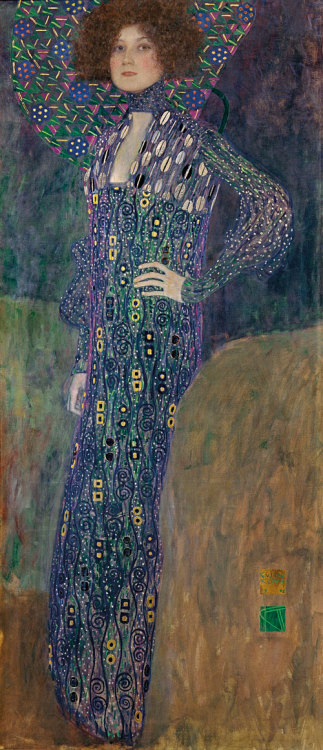 fckyeaharthistory:  Gustav Klimt - Emilie Flöge, 1902. Oil on canvas