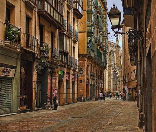 bluepueblo:  Ancient Street, Bilbao, Spain photo by Gallastegui