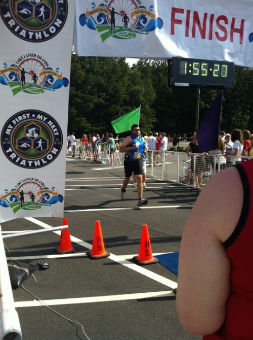 lindsaydoeslife:  christwalk:  I did it. I am now a triathlete! Unofficial time ~1:49. My goal was to do it in under 2. Thanks everyone for your support!!!  yay!  way to go, ben!
