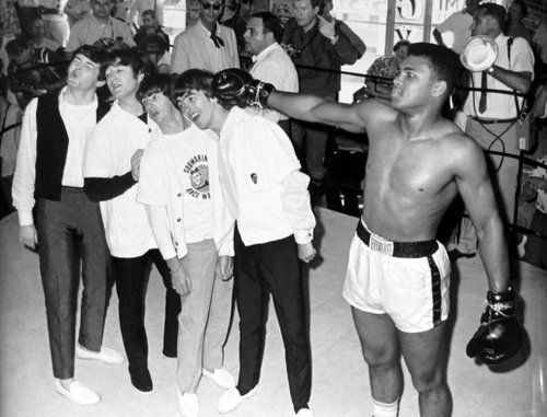 you-cant-be-my-superman:  Muhammad Ali & The Beatles