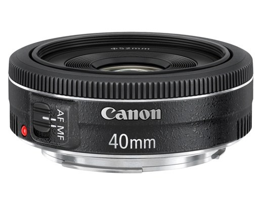 Canon's very interesting new 40mm Pancake Lens. What's even more interesting about this is that it seems to be useable on a full frame camera too (via Canon creates EF-S 18-135mm F3.5-5.6 IS STM and EF 40mm F2.8 STM: Digital Photography Review)