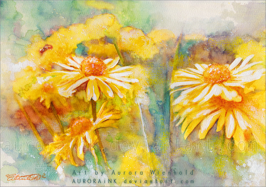 Golden days - Watercolors by *auroraink