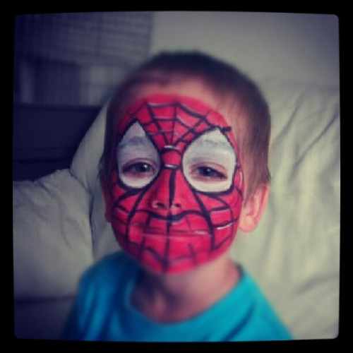#nicolas #spiderman #facepainting #cool #fun http://instagr.am/p/LqGtrHJ_IE/