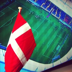 Go Denmark!! #football #UEFA Euro 2012 (Taken with Instagram)