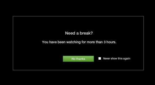 Thank you, Hulu, for the brilliant suggestion. They might as well have had a tagline that said — GET UP OFF YOUR BUTT AND GET ACTIVE. Point taken. Off to the gym!