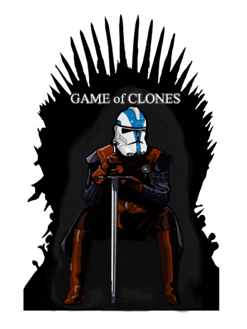 tiefighters:  Game of Clones Created by Nick Heazell  Geekleetist: Sigh…I don't know I feel about this…I did it last yurr. http://society6.com/Geekleetist/Game-of-Clones_Print