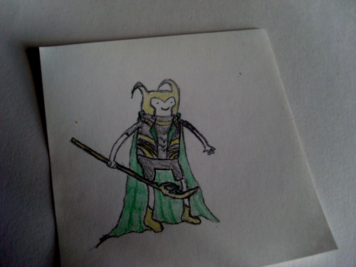 Finn from Adventure Time as Tom Hiddlest- I mean, Loki from Thorvengers It might seem like one of those drawings I do when I'm trying to put off getting ready for college because it is, yup.