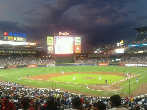 braves stadium! what an amazing game last night