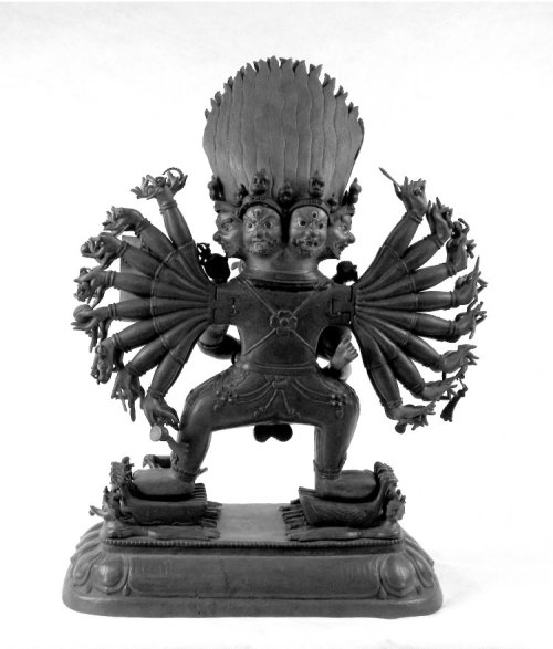 Yamāntaka Vajrabhairava in yab-yum.(back) Tibet, 19th Century The British Museum