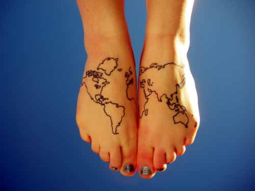 Tignish-girl: beautiful map tattoo!