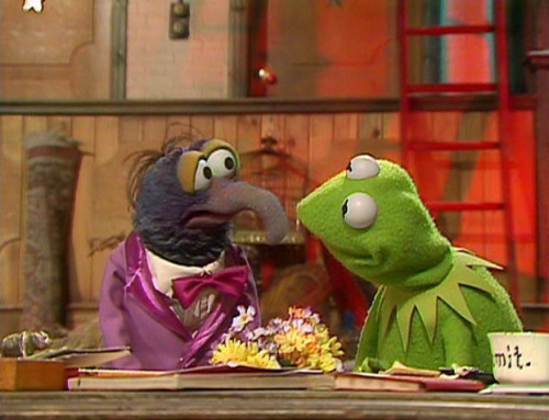 "loversdreamersandyou:  ""Kermit, if you need me, I'll be in Camilla's dressing room. I'm so nervous. Tonight's our first formal date and I'm almost sick with fear."" ""Well, I imagine she feels much the same."""