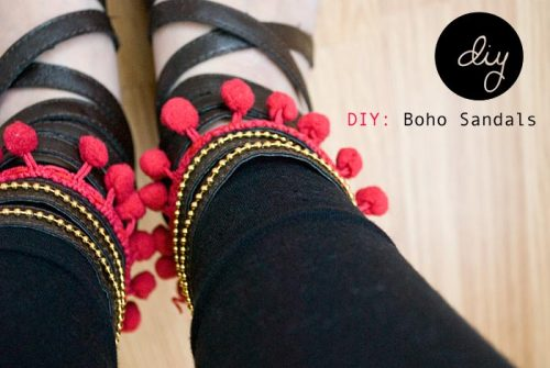 helloweronika:  DIY Boho Sandals