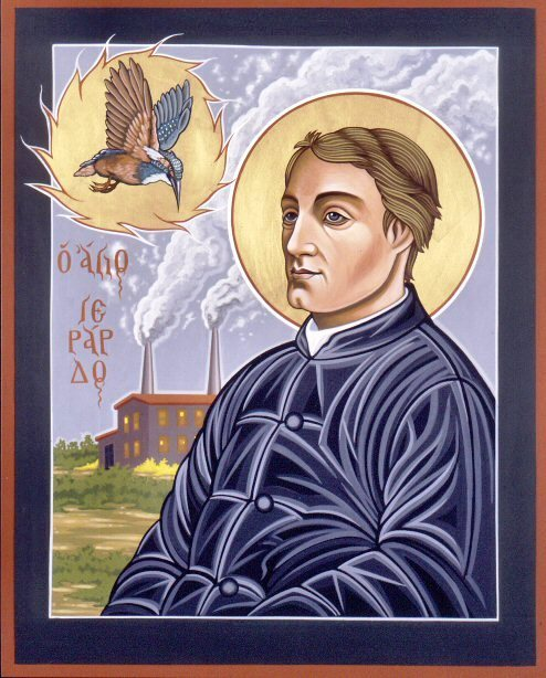 canonizedandotherwise:  Gerard Manley Hopkins  (28 July 1844 – 8 June 1889 The Windhover To Christ our LordI caught this morning morning's minion, king-    dom of daylight's dauphin, dapple-dawn-drawn Falcon, in his riding    Of the rolling level underneath him steady air, and stridingHigh there, how he rung upon the rein of a wimpling wingIn his ecstasy! then off, off forth on swing,    As a skate's heel sweeps smooth on a bow-bend: the hurl and gliding    Rebuffed the big wind. My heart in hidingStirred for a bird, – the achieve of, the mastery of the thing!Brute beauty and valour and act, oh, air, pride, plume, here    Buckle! AND the fire that breaks from thee then, a billionTimes told lovelier, more dangerous, O my chevalier!   No wonder of it: shéer plód makes plough down sillionShine, and blue-bleak embers, ah my dear,    Fall, gall themselves, and gash gold-vermilion.—Gerard Manley Hopkins(source: Poetry Foundation)