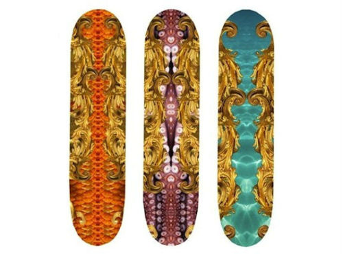 British designer Kate Eary skateboard decks Spring/Summer 2012