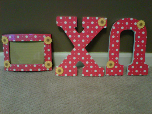 sororitycraft:  Chi Omega letters and frame I made for my future little!