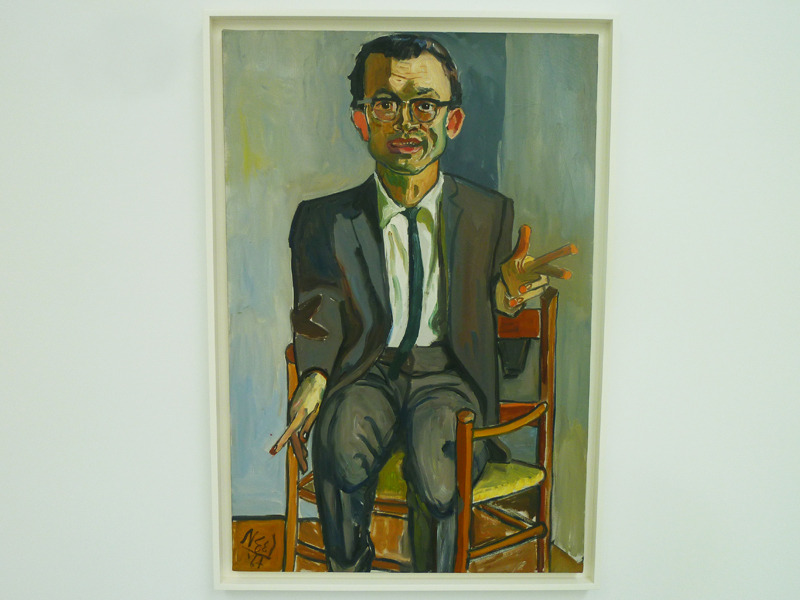 Alice Neel's delightful portrait of Sherry Speeth (1964) is one of the highlights of David Zwirner's current show, Late Portraits & Still Lifes (through June 23).