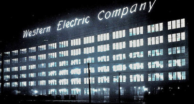 Exterior of the Hawthorne Western Electric plant, 1920's, Chicago.