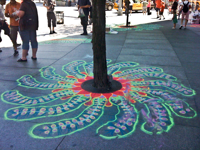 Sand Painting at Columbus Circle