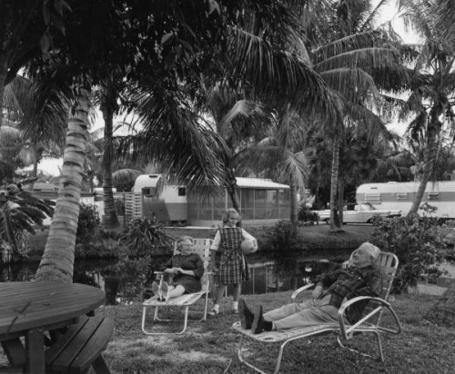 Retirees at the trailer park: Fort Lauderdale, Florida by State Library and Archives of Florida on Flickr.Look at the photo. Consider what has has just happened here, or what is about to happen here. Who has been here? Who will come here and and what will they do? What kinds of interactions can you imagine? Write one leaf about these or other things that occur to you upon looking at the picture. Do not allow yourself to be limited by what you see. Go.| Write One Leaf + about + ask + random + facebook + twitter | sponsors + You Are a Dog [ Kindle | Google | iBookstore ]