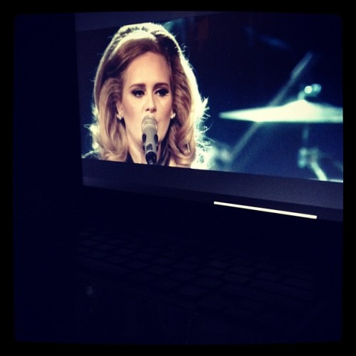 Now watching: Adele's concert at the Royal Albert Hall. 🌟 (Taken with Instagram)